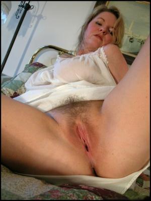 Hairy Mature Upskirt Pussy